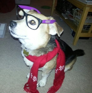 Jolie in Glasses and a Scarf