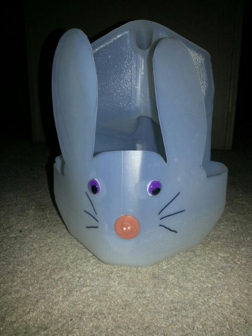 Day 216 Milk Jug Bunny Basket 365 Days Of Pinterest